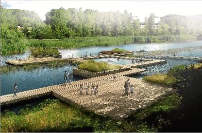 """Les piscines naturals al riu Ter, una de les propostes de l´estudi """"Quatre rius i una séquia"""". Ajuntament de Girona"""